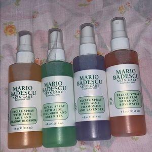 NEW Set of 4 Mario Badescu Facial Sprays